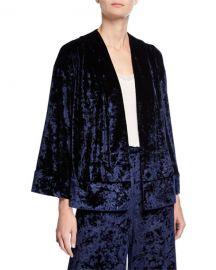 Likely Leslie Velvet Long-Sleeve Kimono at Neiman Marcus