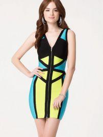 Lila Colorblock Dress at Bebe