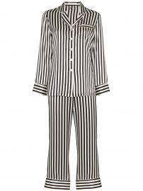 Lila striped pyjama set at Farfetch