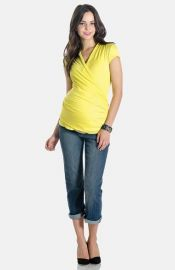 Lilac Clothing Karen Maternity Top in yellow at Nordstrom