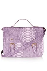 Lilac Snake Satchel at Topshop