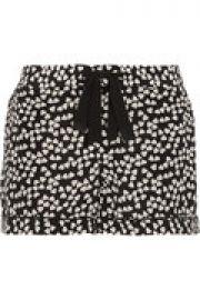 Lilian printed washed-silk pajama shorts at The Outnet