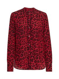 Lillian Leopard Print Blouse by Rails at Saks Fifth Avenue