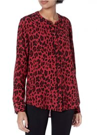 Lillian Piped Leopard Print Shirt by Rails at Amazon