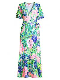Lilly Pulitzer - Emmerson Ruffle Floral Maxi Dress at Saks Fifth Avenue