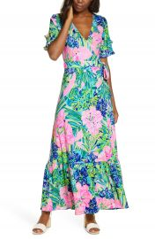 Lilly Pulitzer   Emmerson Wrap Maxi Dress   Nordstrom at Nordstrom
