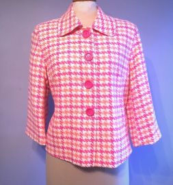 Lilly Pulitzer Pink and Orange Houndstooth Jacket at Poshmark