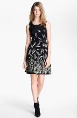 Lilys black feather print dress at Nordstrom at Nordstrom