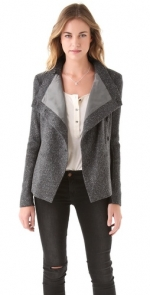 Lily's grey jacket at Shopbop