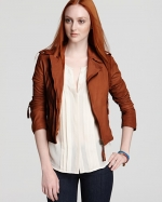 Lily's leather jacket by Joie at Bloomingdales