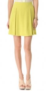 Lime pleated skirt like Ashleys at Shopbop