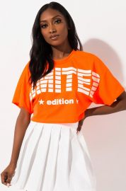Limited Edition Cropped Tee  at Shop Akira