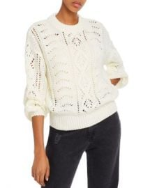 Line  amp  Dot Line   Dot Balloon-Sleeve Pointelle Sweater - 100  Exclusive  Women - Bloomingdale s at Bloomingdales