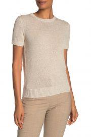 Linen & Cashmere Knit Short Sleeve T-Shirt at Nordstrom Rack
