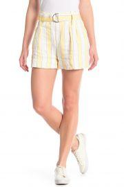 Linen Stripe Short by Frame at Nordstrom Rack