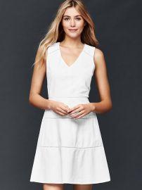 Linen Vneck Dress at Gap