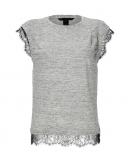 Linen and lace tee by Marc by Marc Jacobs at Stylebop