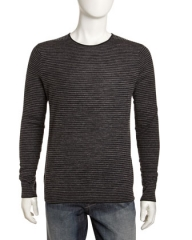Linen blend stripe sweater by Vince at Last Call