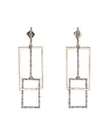 Linked Crystal Rectangles Post Earrings at Bloomingdales