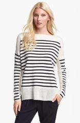 Linked stripe sweater by Vince at Nordstrom