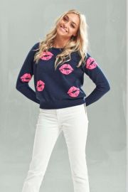 Lip Print Sweater by Brodie at Shoptiques