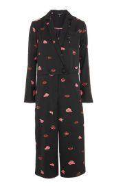 Lips Print Pyjama Jumpsuit at Topshop
