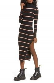 Lira Clothing Lola Long Sleeve Stripe Turtleneck Sweater Dress   Nordstrom at Nordstrom