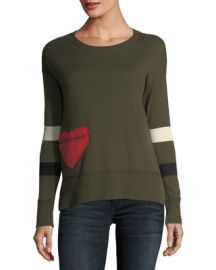 Lisa Todd Plus Size Heartthrob Cotton-Cashmere Sweater at Neiman Marcus