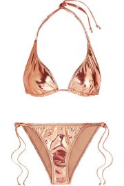 Lisa Marie Fernandez - Pamela metallic stretch-PVC bikini at Net A Porter