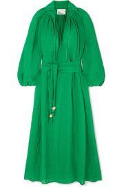 Lisa Marie Fernandez - Poet belted linen-blend maxi dress at Net A Porter