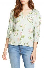 Lita Floral Tie Sleeve Silk Blend Blouse at Nordstrom