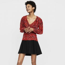 Lito Ruffled Wrap Top at Maje