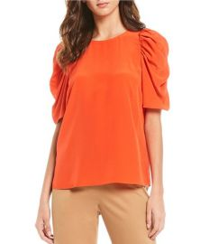 Liv Puff Sleeve Silk Blouse by Antonio Melani at Dillards