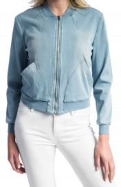 Liverpool Jeans Company Denim Knit Bomber Jacket at Nordstrom