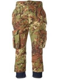 Livery Tenent Icon Cropped Camouflage Trousers by Dsquared2 at Farfetch