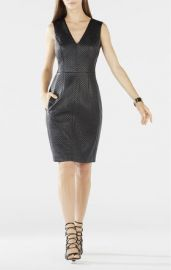 Livie Quilted Faux Leather Dress at Bcbg