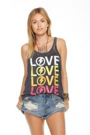 Lo Narrow Racer Tank Top by Chaser at Lucky Vitamin