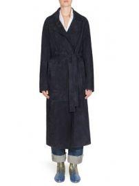 Loewe - Long Suede Belted Coat at Saks Fifth Avenue