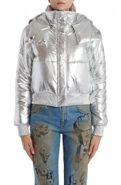 Logo Metallic Puffer Jacket by Off-White at Nordstrom