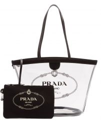 Logo-Print Clear PVC Tote by Prada at Matches