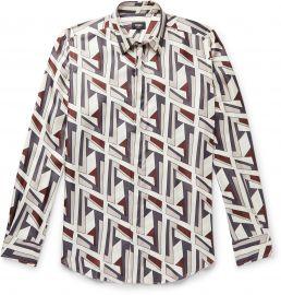 Logo-Print Silk-Twill Shirt by Fendi at Mr Porter