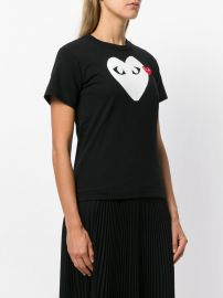 Logo Print T-Shirt by Comme Des Garcons PLAY at Farfetch