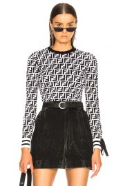 Logo Print Viscose Sweater by Fendi at Forward