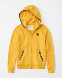 Logo Tape Hoodie at Abercrombie