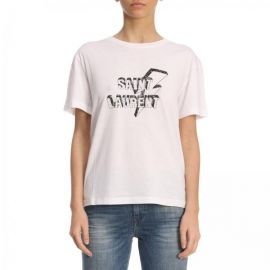 Logo Tee by Saint Laurent at Giglio