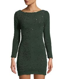 Lola Long-Sleeve Sequin Mini Dress by Dress the Population at Last Call