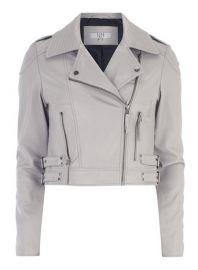 Lola Skye Grey Moto Jacket at Dorothy Perkins