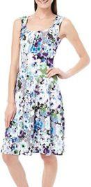 London Times Womens Watercolor Floral Print Dress at Amazon