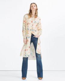 Long Asymmetric Shirt at Zara