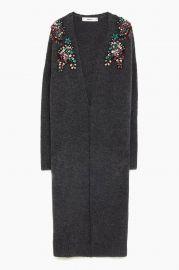 Long Bejewelled Cardigan at Zara